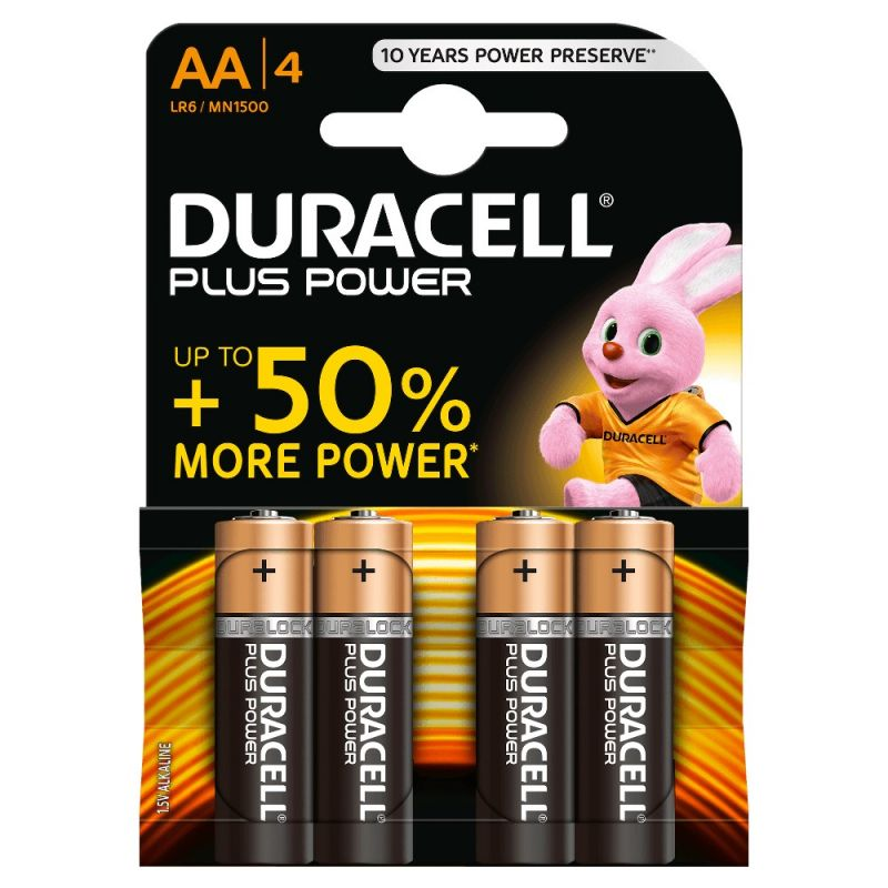 4 Pile Stile AA DURACELL Plus Power