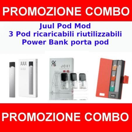 Kit Juul con 3 POD ricaricabili e power bank Juul - 1