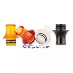 Drip tip 510 campana in resina MTL