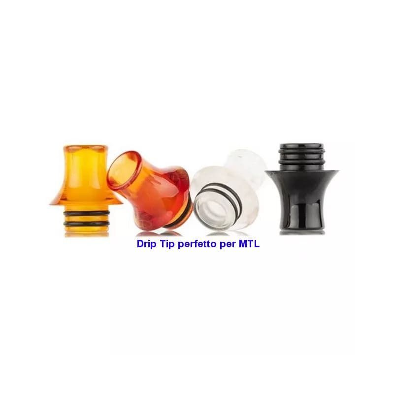 Drip tip 510 campana in resina MTL Reewape - 1