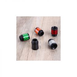 Drip tip 510 in delrin + fibra di carbonio